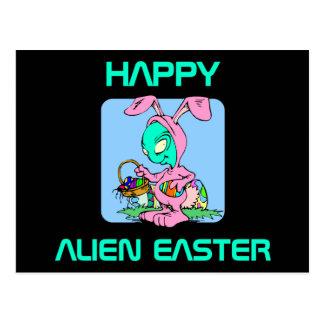 Easter Alien Postcard