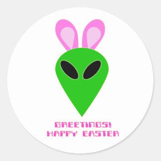 Easter Alien Sticker
