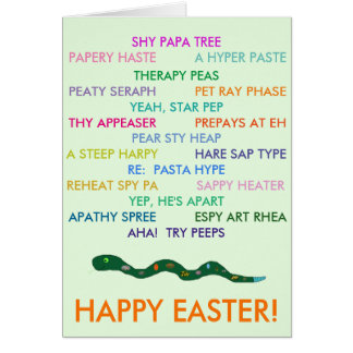 Easter Anagrams card