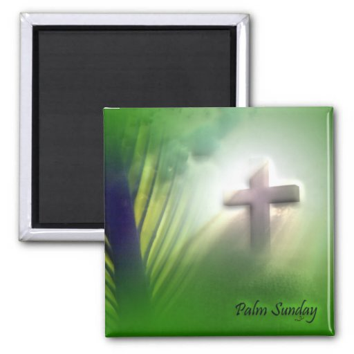 Easter and Palm Sunday Crosses and Scenes 2 Inch Square Magnet