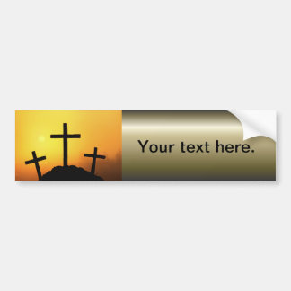 Easter and Palm Sunday Crosses and Scenes Bumper Sticker