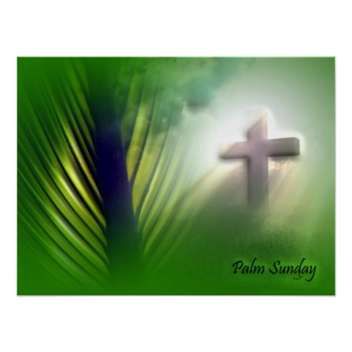 Easter and Palm Sunday Crosses and Scenes Posters