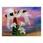 Easter and Palm Sunday Crosses and Scenes Print