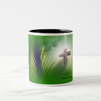 Easter and Palm Sunday Crosses and Scenes Two-Tone Coffee Mug