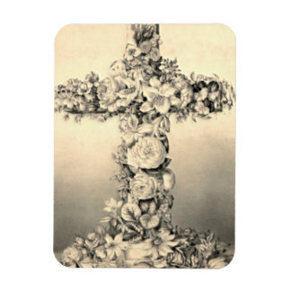 Easter and Palm Sunday Floral Cross Magnet