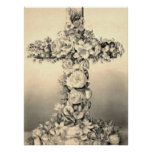 Easter and Palm Sunday Floral Cross Poster
