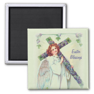 Easter Angel 2 Inch Square Magnet