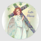 Easter Angel Classic Round Sticker