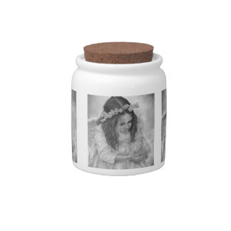 Easter angel dove Candy Jar