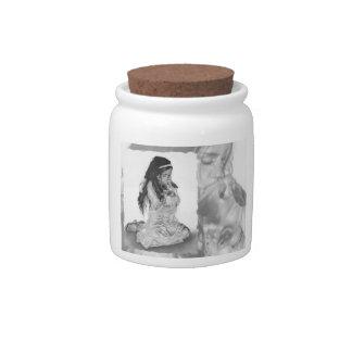 Easter Angel Girl Bunny Candy Jar