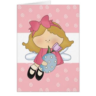 Easter Angel Girl D1 Blank Easter Greeting Card