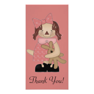 Easter Annie Loving A Teddy Bear Card