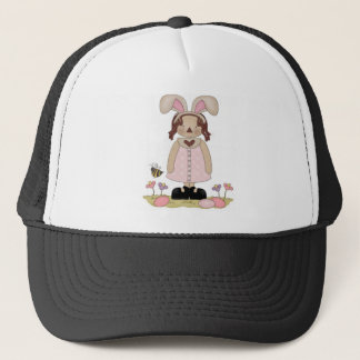 Easter Annie with Bee, Fowers, and Eggs Trucker Hat