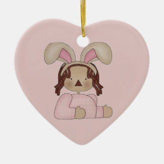 Easter Annie with Pink Blouse Ceramic Ornament