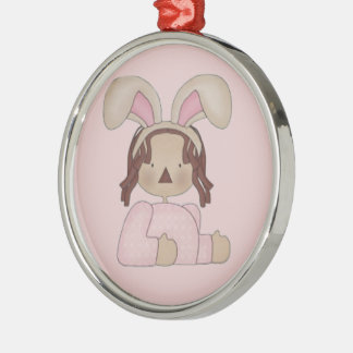 Easter Annie with Pink Blouse Metal Ornament