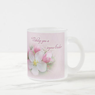 Easter - Apple Blossom Time 10 Oz Frosted Glass Coffee Mug