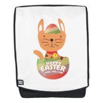 Easter April Fool's Day Gifts Cat Egg Easter Funny Backpack