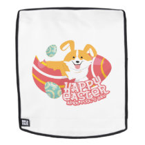 Easter April Fool's Day Gifts Corgi Puppy Dog Egg Backpack