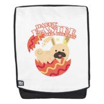 Easter April Fool's Day Gifts Pug Dog Egg Easter Backpack