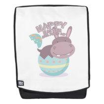 Easter April Fool's Day Hippopotamus Egg Easter Backpack