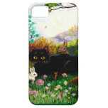 Easter Art Black Cat Bunny Christian Creationart iPhone 5 Cases