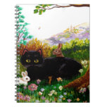 Easter Art Black Cat Mouse Christian Creationarts Spiral Note Book