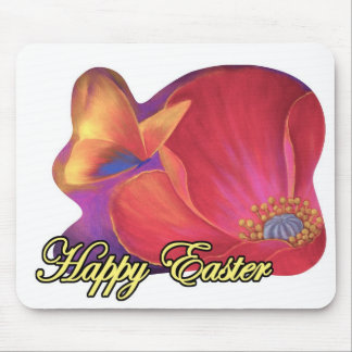 Easter Art Floral Pink Poppy Butterfly - Multi Mouse Mats