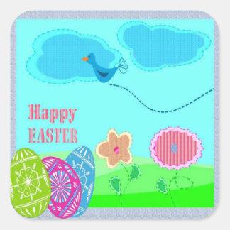 Easter Art Square Sticker