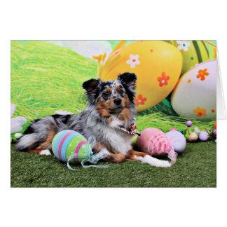 Easter - Australian Shepherd - Silas Barker Greeting Card