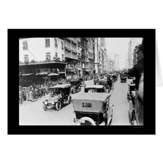 Easter Auto Parade in New York City 1920 Card