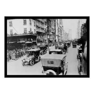 Easter Auto Parade in New York City 1920 Poster