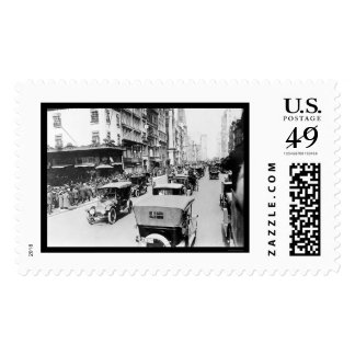 Easter Auto Parade in New York City 1920 Stamp