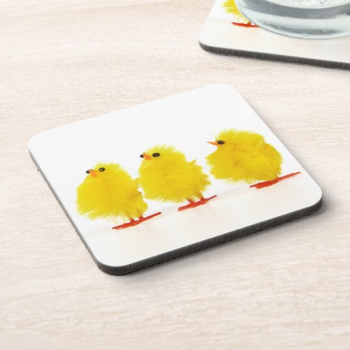 Easter baby chicks Cork Coaster
