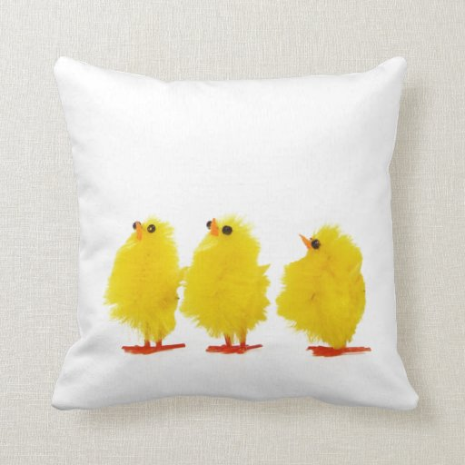 Easter baby chicks Pillow