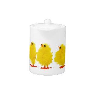 Easter baby chicks Teapot