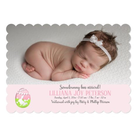 Easter Baby Photo Birth Announcement