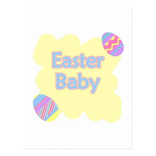 easter baby postcard