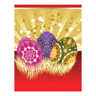 Easter background with eggs letterhead