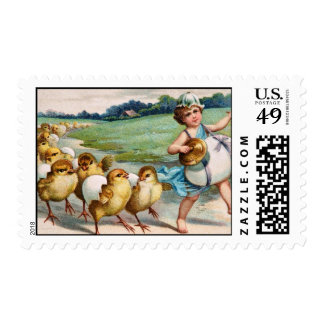 Easter Band Boy Marching Chicks Postage