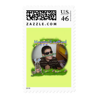 Easter Bandit Yellow Frame Postage Stamps