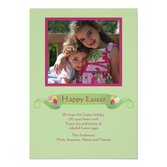 Easter Banner Photo Card