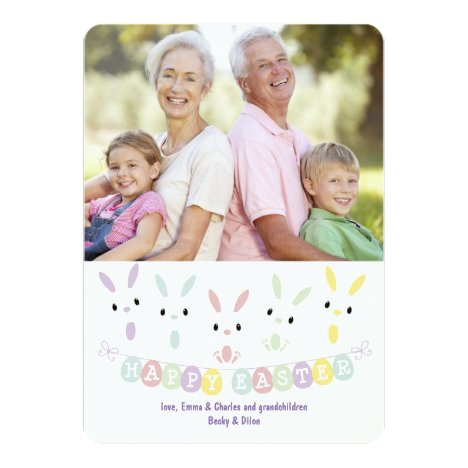 Easter Banner Photo Greeting Card