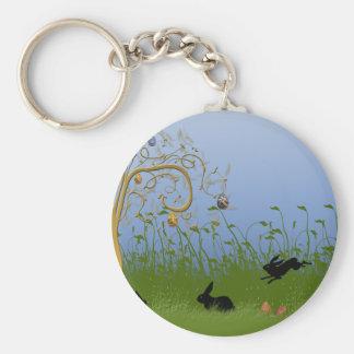 Easter Basic Round Button Keychain