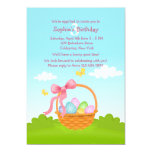 Easter Basket Birthday Invitation