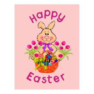 Easter Basket Bunny Postcard