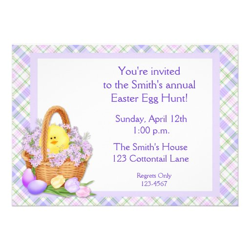 Easter Basket Chick Custom Invites