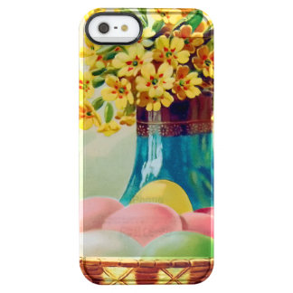 Easter Basket Colored Eggs Vase Daisies Clear iPhone SE/5/5s Case