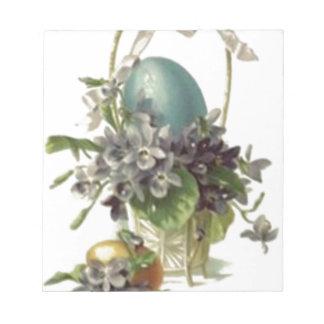 Easter Basket Colored Painted Egg Violet Notepad
