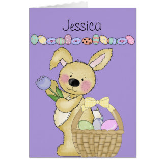 Easter Basket Custom Card