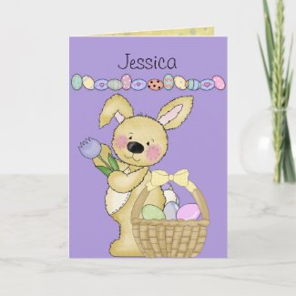Easter Basket Custom Holiday Card